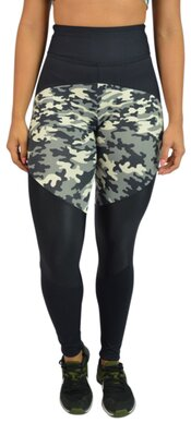 Black Cherry  Legging Camuflada Cinza  1