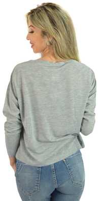 I&M Store  Blusa Cinza Kiss Your   2