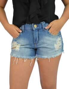 Short Jeans Detroyed Frontal