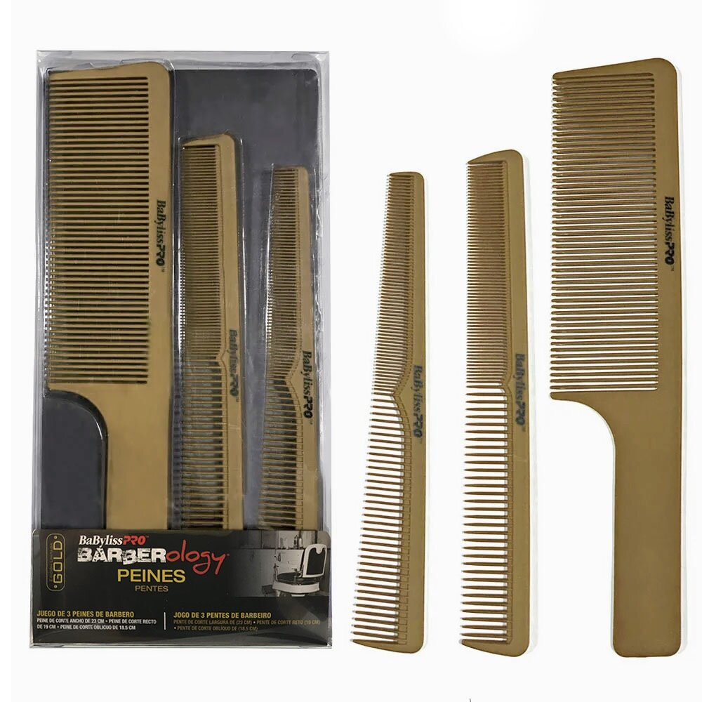 Kit Pentes BabyLiss Pro Gold Barberology