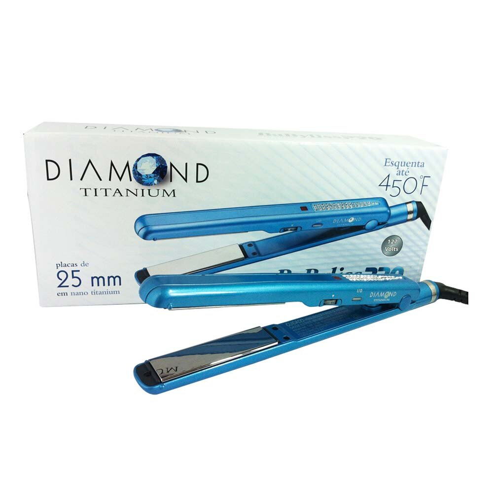 Prancha Babyliss PRO Diamond Titanium By Roger 1 + 1/2 25mm
