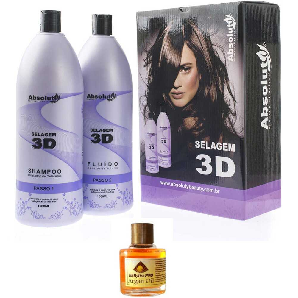 Kit Selagem Absoluty Beauty em 3d + Oleo de Argan Babyliss PRO 8ml