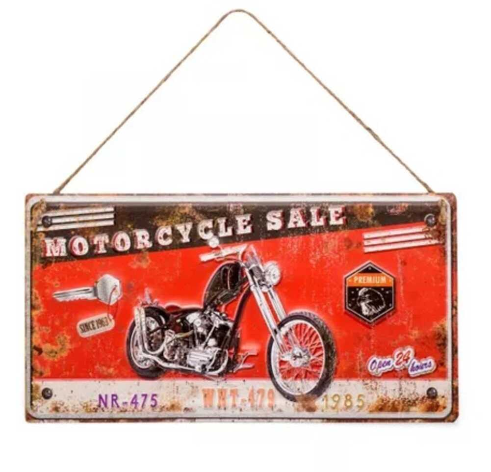 PLACA MOTORCYCLE