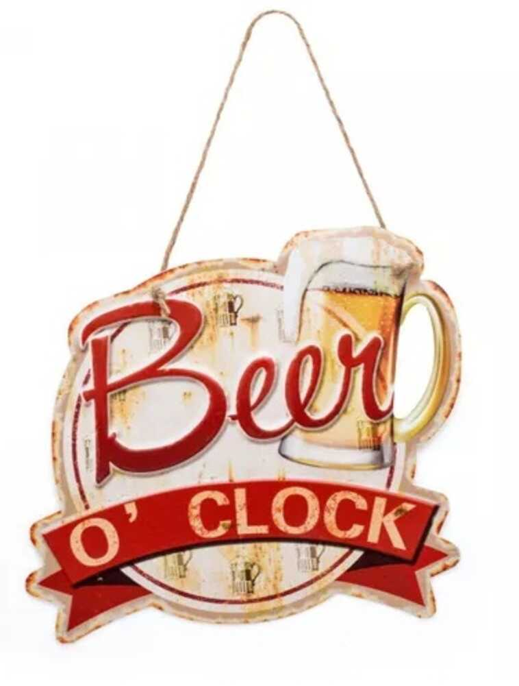 PLACA BEER O CLOCK