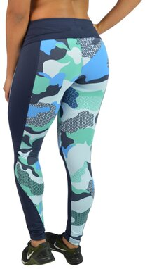 Black Cherry  Legging Camuflada azul Compress  2