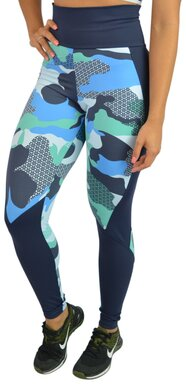 Black Cherry  Legging Camuflada azul Compress  1