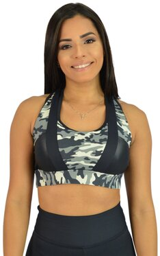 Black Cherry  Top Camuflado Cinza com Preto  1