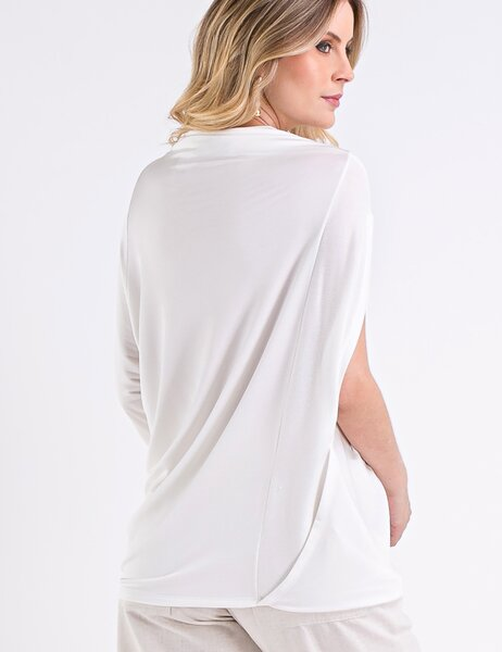 BLUSA ASSIMETRICA OFF WHITE