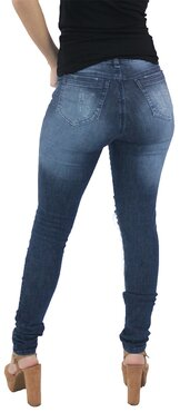 Crosby  Calça Jeans Feminina Destroyed Escuro  2